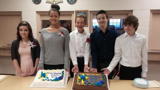 Sophia, Ayonna, Teddy, Eamon and Garrett